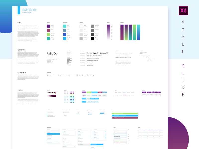 Download Free Adobe Xd Styleguide