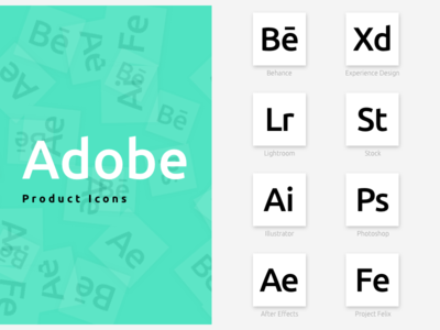 Adobe Product Icons