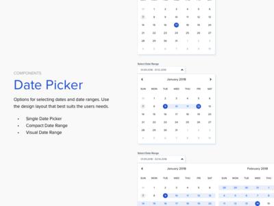 Date Picker input form web design dropdown interface ux ui design system component element date picker