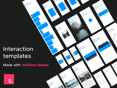 Free InVision Studio Interaction Templates