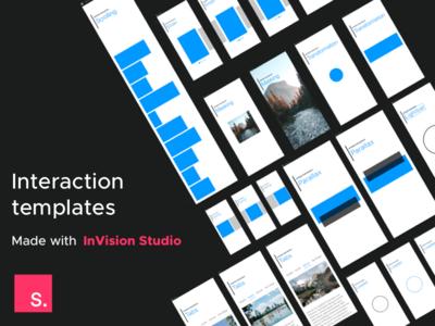 Free InVision Studio Interaction Templates animation web design design mobile download freebie template ux ui interaction studio invision