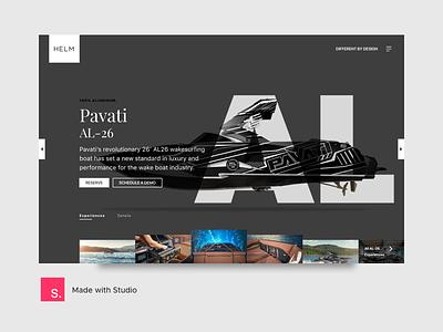HELM | Visuals + template direction splash landing carousel reserve interaciton ux ui invision studio template design freebie download