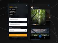 Flight booking | dark UI