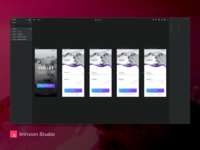 Invision studio layout