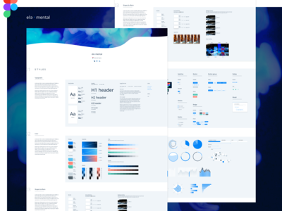 Figma Design System   style + elements
