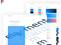 Free Figma Design System | UI colors + styles