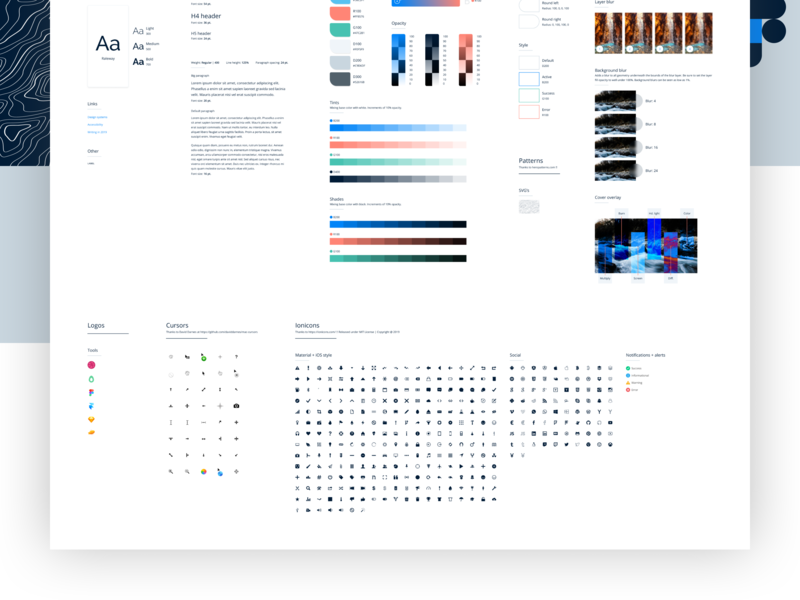 Free Figma Design System   Updates by Tyler Wain on Dribbble