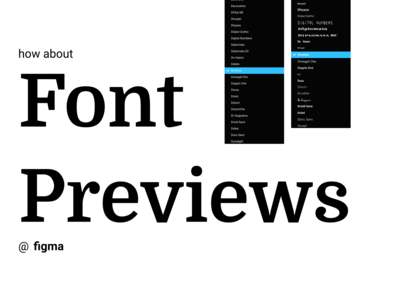 Figma | Font Previews