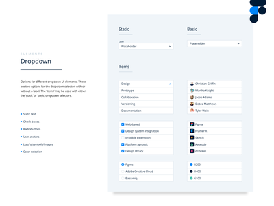 Form Fields Dropdown figma template freebie radiobutton checkbox web ux ui interface interaction input form element design system design dropdown component