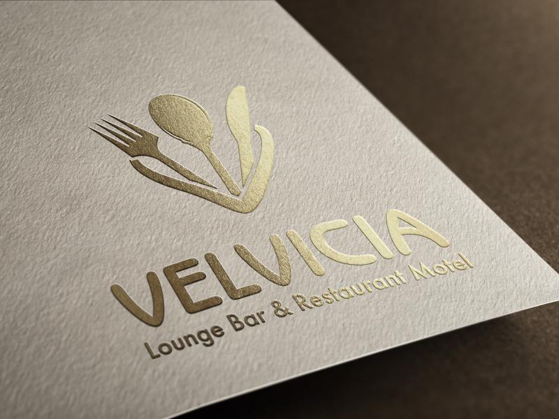 "Logo redesign ""Restaurant & Motel VELVICIA"" logo redesign illustration vector typography vector graphic branding design logo logo design"