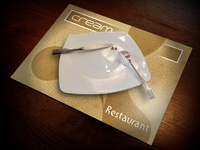 "Plate-mat design ""CREAM Restaurant"""
