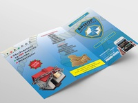 "Trifold flyer design ""ARMOR Security"""