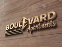 Logo design project Apartments BOULEVARD