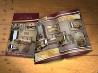 "Bifold flyer design ""Apartments BOULEVARD"""