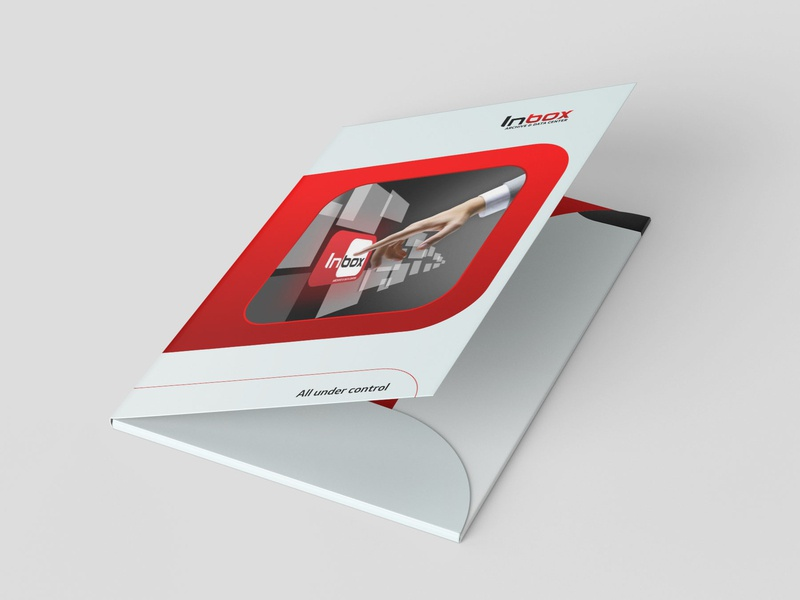 Folder design IN-BOX folder template folder design
