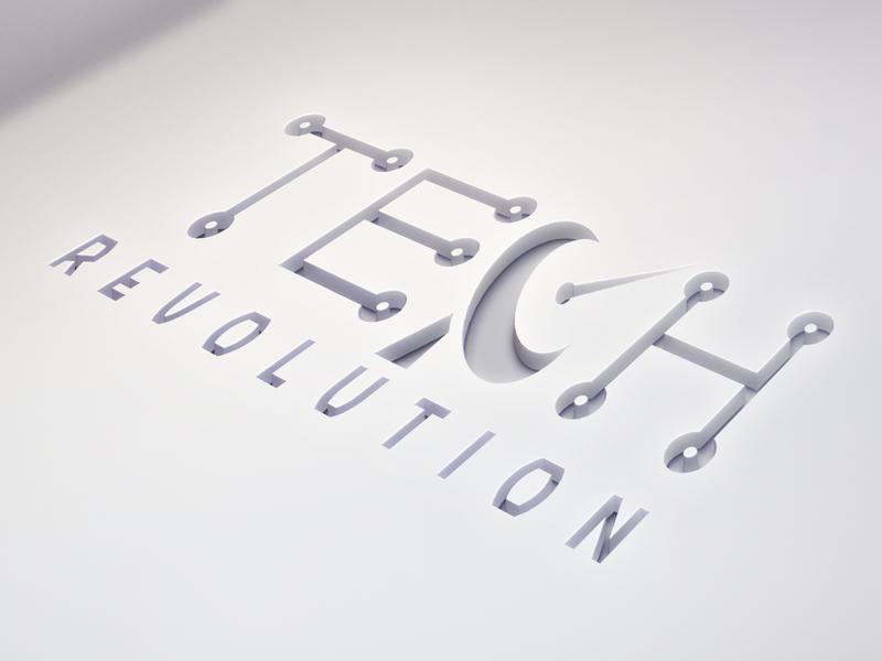 """Logo design """"TECH Revolution"""" branding custom logo design typography vector graphic logo logo design"""