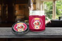 "Label design ""Strawberry & Cherry Jam VIECO"""