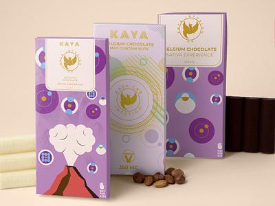 Kaya Chocolate box packaging box design belgium chololate chocolate bar chocolate kaya logo illustration graphic design food packaging fiifix on dribble fiifix design branding