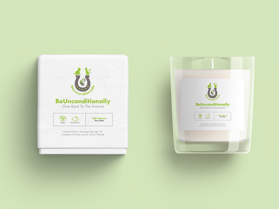 BeUnconditionally Candle on profit charity candle label candle vector logo illustration graphic design food packaging fiifix on dribble fiifix design branding