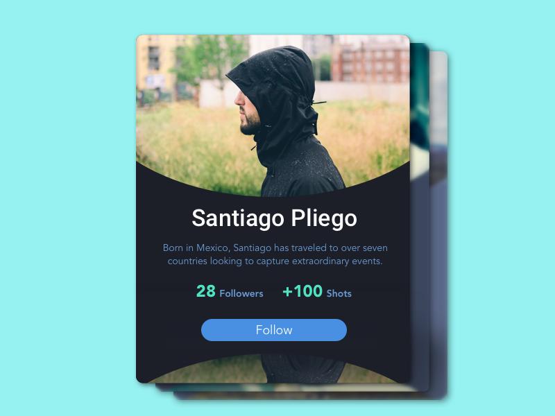 006 - User Profile user profile daily ui cspliego