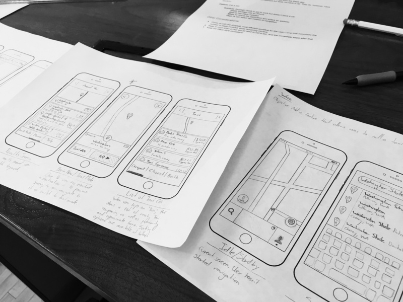 Waze Project sketching redesign waze thinkful