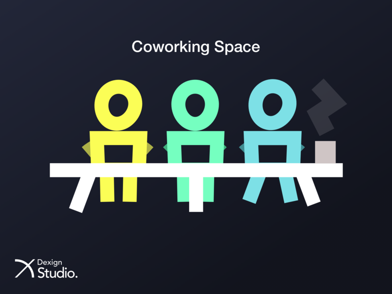 Coworking Space web logo ui icon branding vector artwork application illustration design