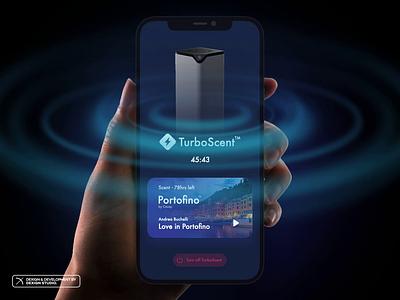 Couzy - Launching TurboScent visual design ui app smarthome home homekit