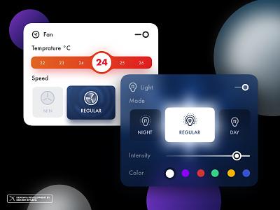 Couzy - Dashboard Modules illustration branding blur smartphone module kit ui smarthome smart dashboard