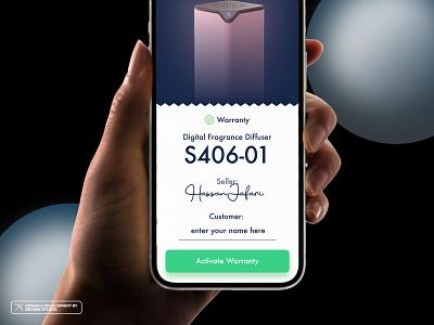 Couzy - Virtual Warranty View minimal application vector artwork icon ui ux warranty smarthome app design couzy app