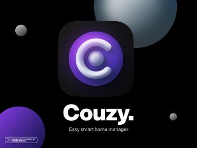 Couzy - App Icon branding vector artwork illustration logo design application ui illustraion app design appicon icon app