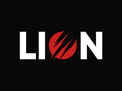 LION 🦁 minimal icon branding vector artwork illustration logo typography red lion head logodesign lion logo lion