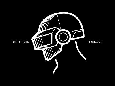 Daft Punk Forever typography branding vector logo minimal art icon illustration artwork daft punk daft daftpunk