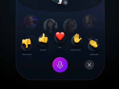 Clubhouse - Emote Function emoji emote redesign app clubhouse