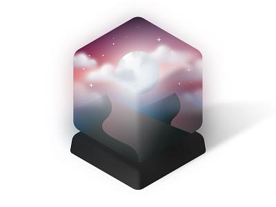 Dreams in a box design application icon vector illustrator artwork 3d illustration dreams