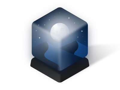Night in a box vector design illustrator glass box illustration night