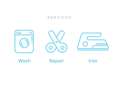 Laundry Application - Service Icons