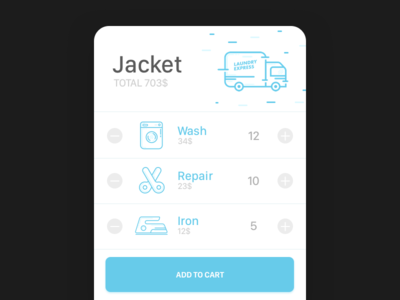 Laundry Application - Service Select