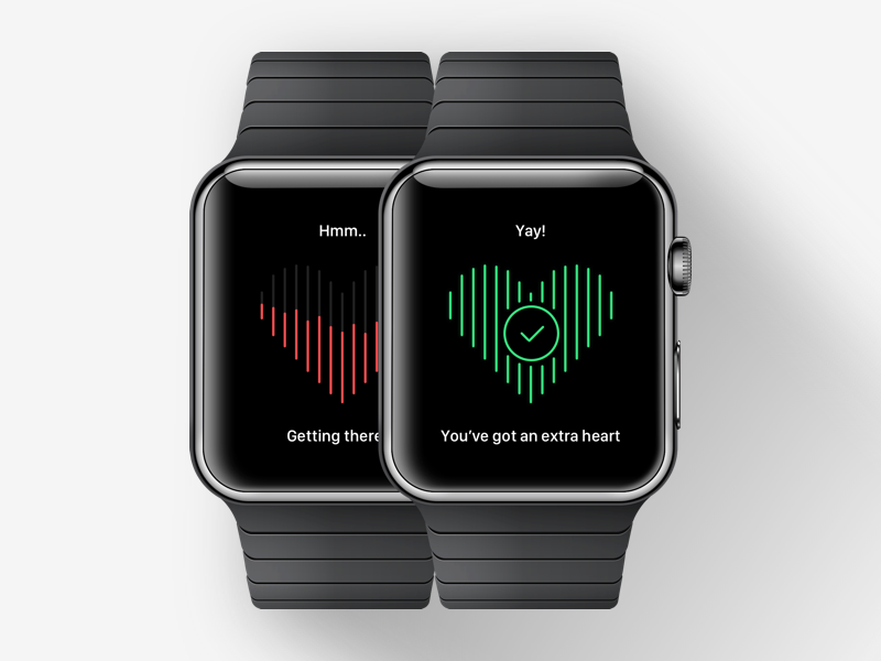 Extra heart apple apple watch extra design game heart