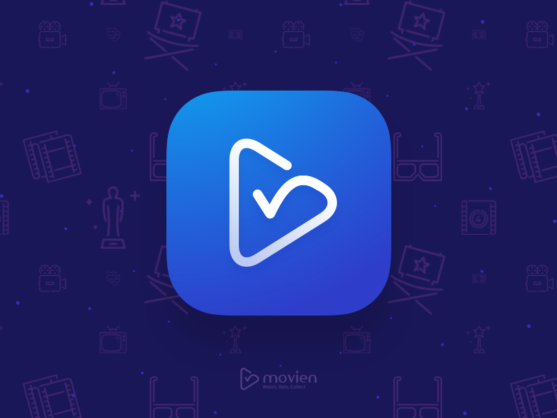 Movien Logo & App Icon checkin icon movie app