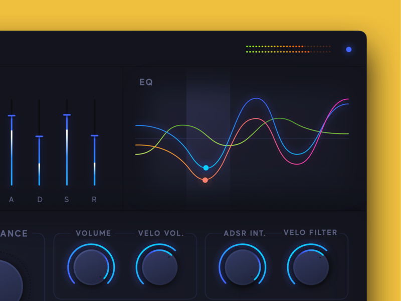 ES Polyphonic Synth Redesign vst app redesign concept ux ui production composing music pro logic synthesizer redesign synth