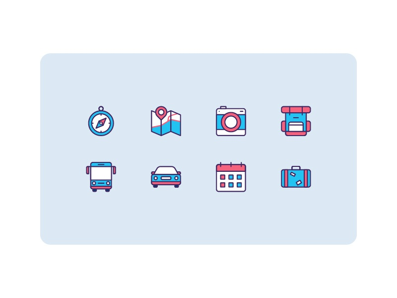 Travel Icons Set by Danu Atmojo on Dribbble