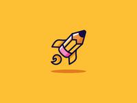 Pencil Rocket Logo