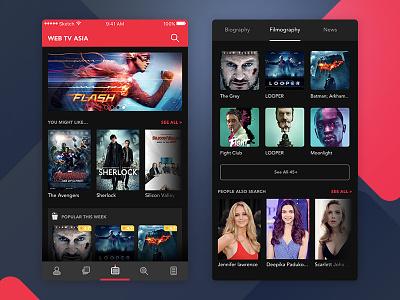 Online Movie adit septian film red dark scroll thumbnail list webtvasia app movie online