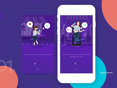 Onboarding Screen 1.0 indonesia jakarta purple clean ux ui app septian adit walktrough onboarding