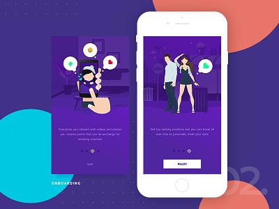 Onboarding Screen 2.0 walktrough ux ui septian purple onboarding jakarta indonesia clean app adit