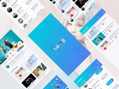 LUVE App webtvasia video thumbnail septian search luve layout gradient catalogue app adit