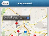 Web-app map interface