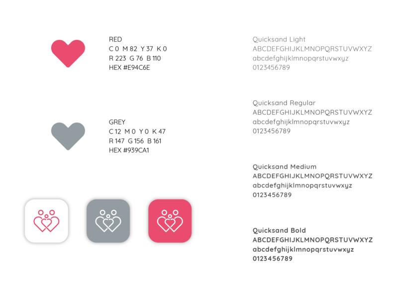 Maršas už Gyvybę | Identity vilnius vector red logo red people logo people parents logo design logo lithuanian lithuania life icon design icon heart logo heart family children branding brand identity