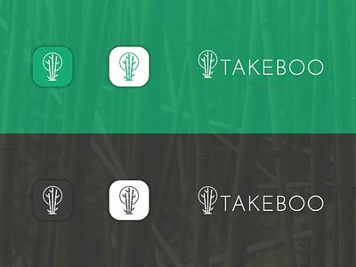 Takeboo   Logo Design food logo japanese japan recycle eco friendly nature green logo bamboo italian italy startup branding icon design startup logo vilnius lithuanian lithuania branding vector logo design logo