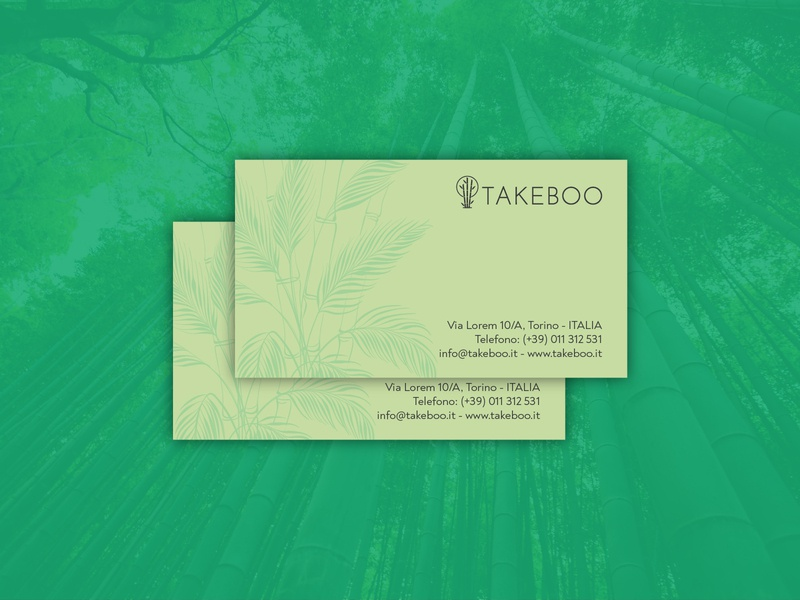 Takeboo | Business Cards icon design minimal minimalist logo recyclable ecology green logo green bamboo logo bamboo vilnius lithuanian lithuania italian italy startup stationery design stationery business cards stationery business cards design business cards